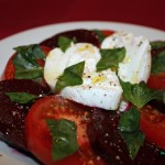 Roasted Beets & Burrata Salad (sliced)