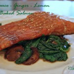 baked salmon soy sauce ginger lemon
