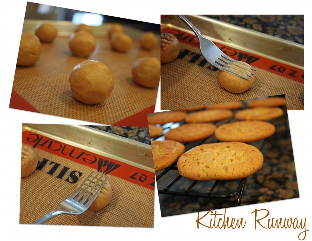 peanut butter cookie collage