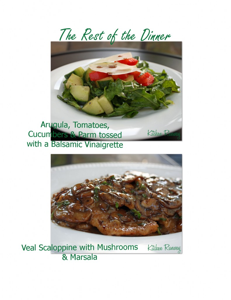 arugula salad & veal scaloppine marsala