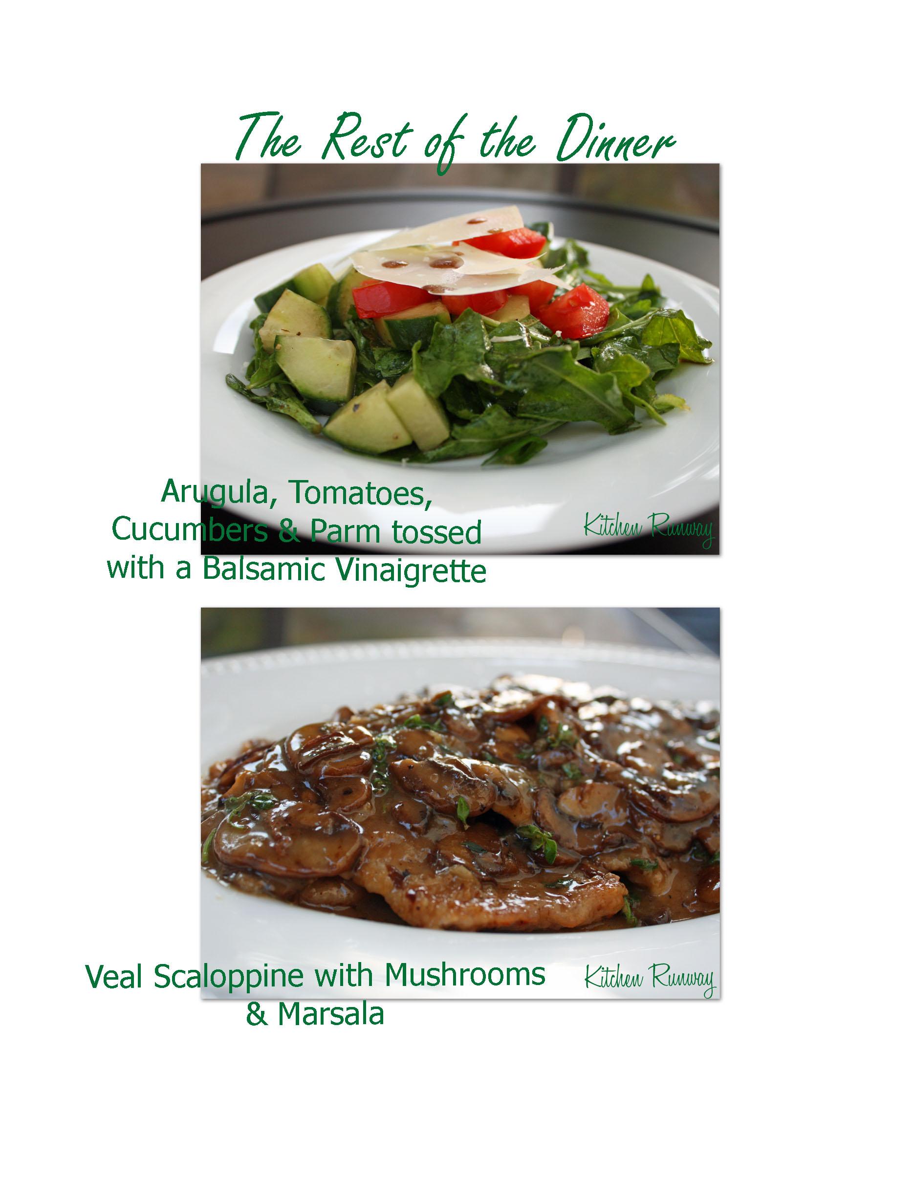arugula salad & veal scaloppine marsala