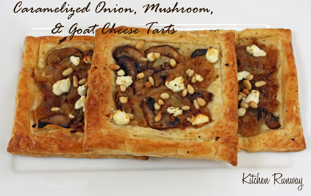 caramelized onion mushroom goat cheese tart