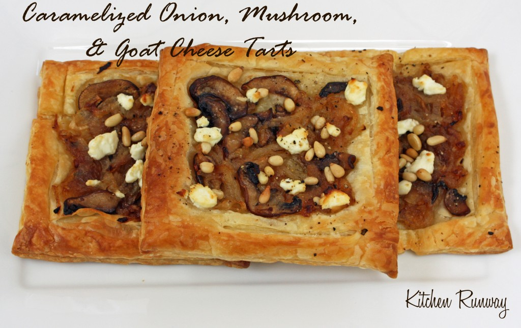 Caramelized Onion, Mushroom, and Goat Cheese Tarts | Kitchen Runway