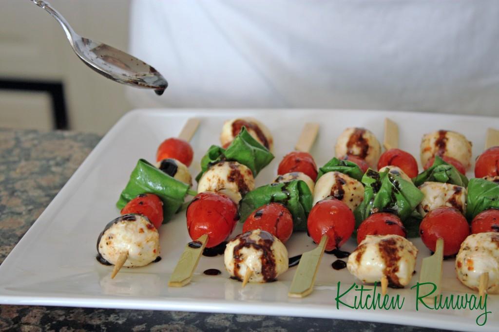 Caprese Salad Skewers with Balsamic Vinegar Reduction | Kitchen Runway
