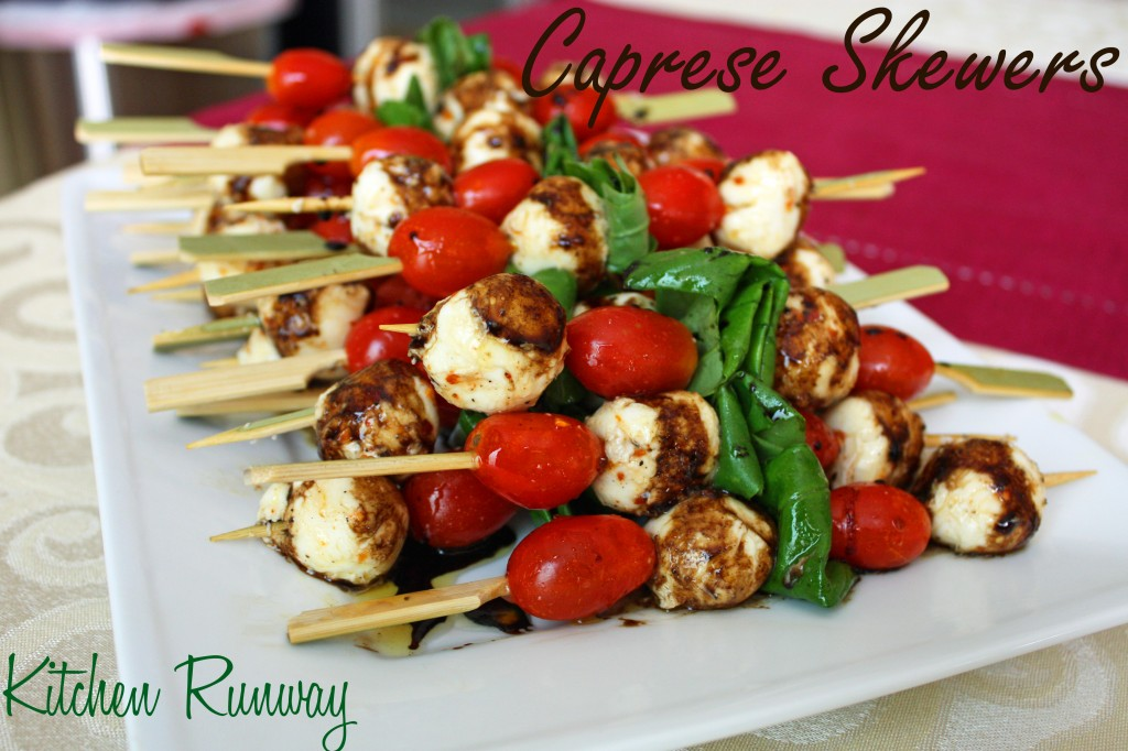 Caprese Salad Skewers with Balsamic Vinegar Reduction | Kitchen Runway