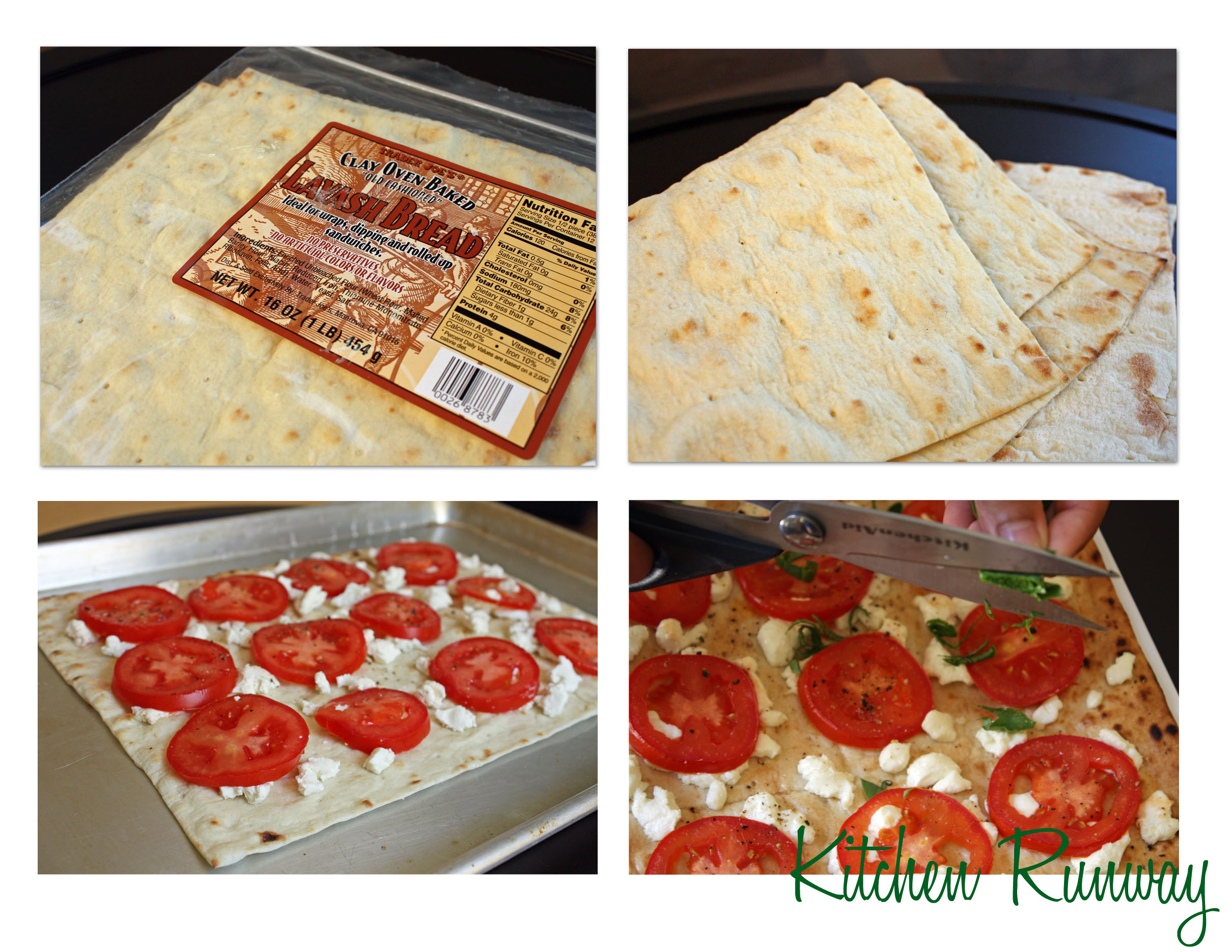 flat bread pizza collage