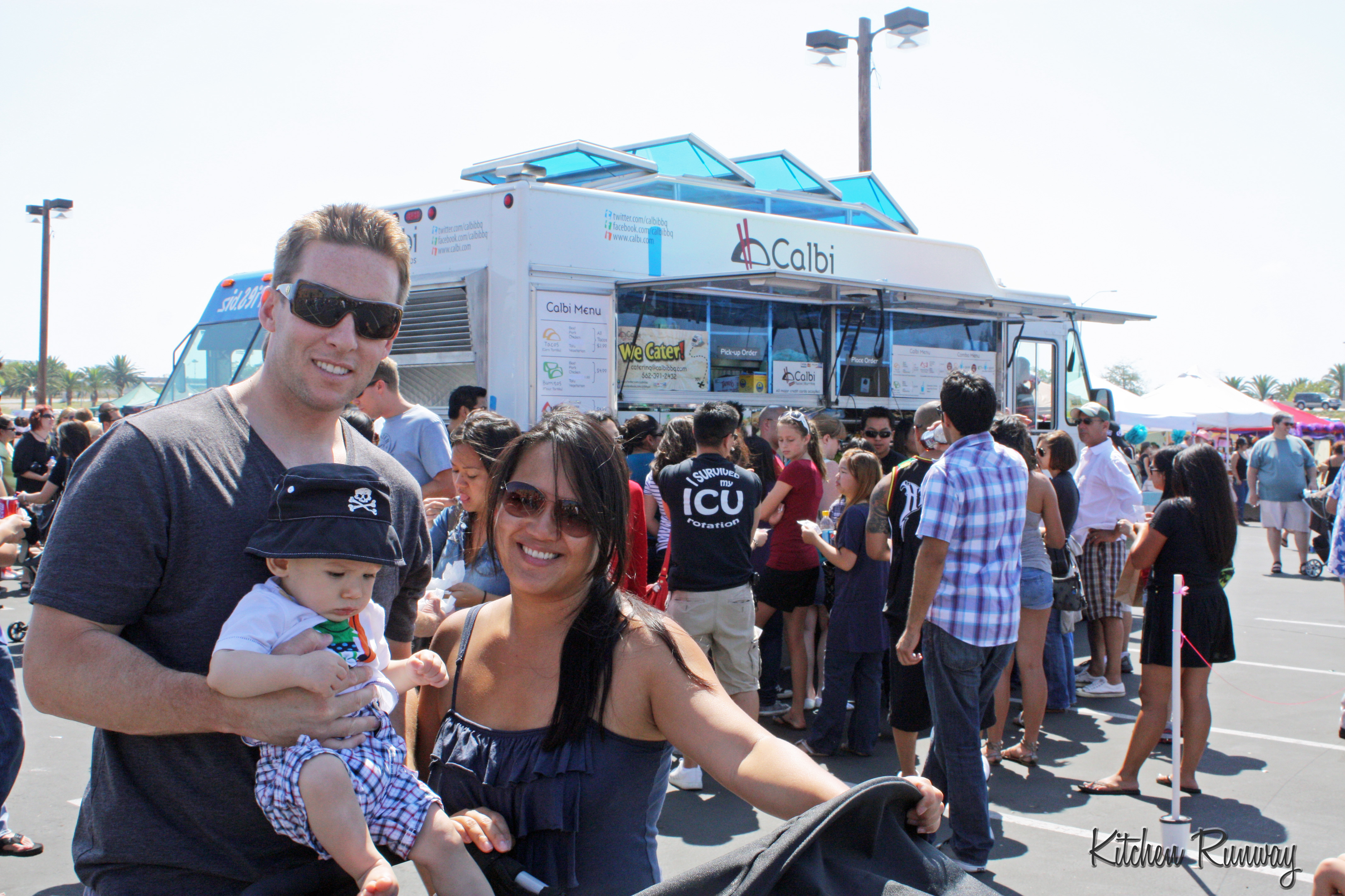 family at calbi truck