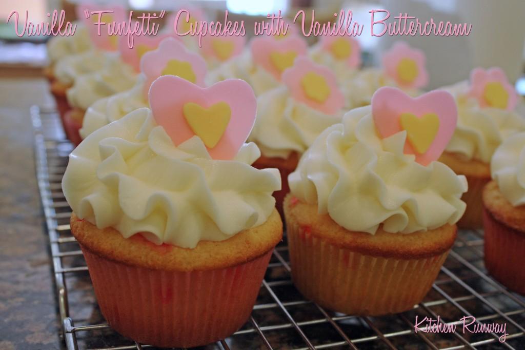vanilla funfetti cupcakes with vanilla buttercream