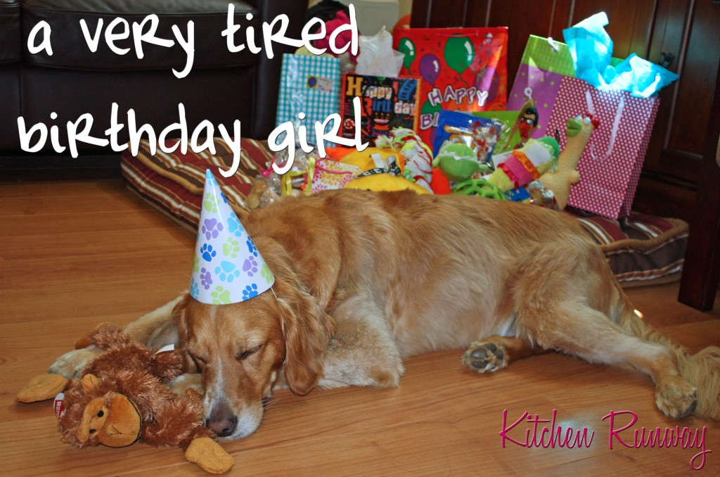 tired birthday girl