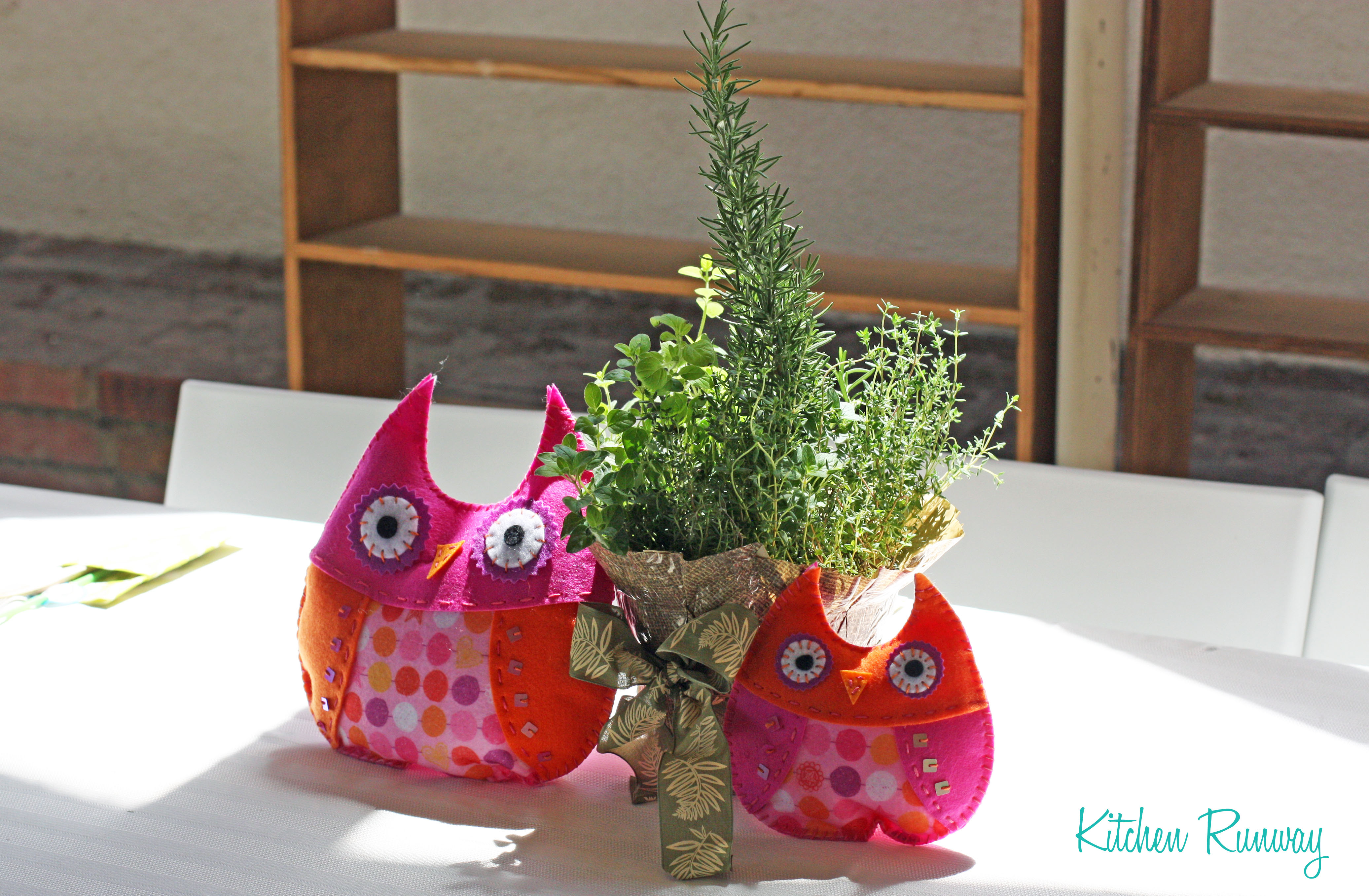 hand-stitched owls