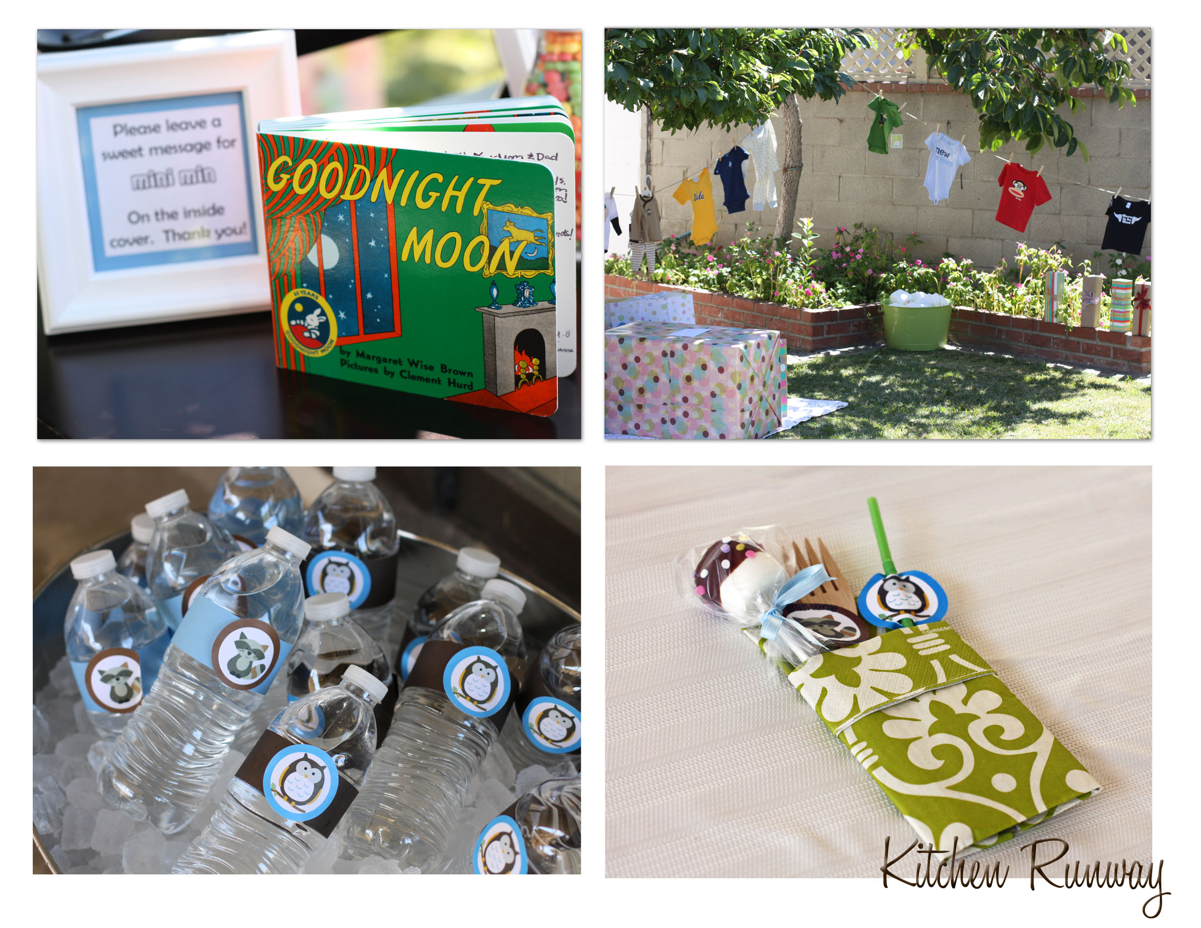 woodland baby shower collage