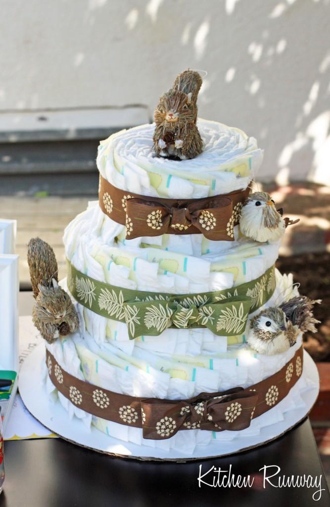 woodland creature cake woodland animal diaper cake