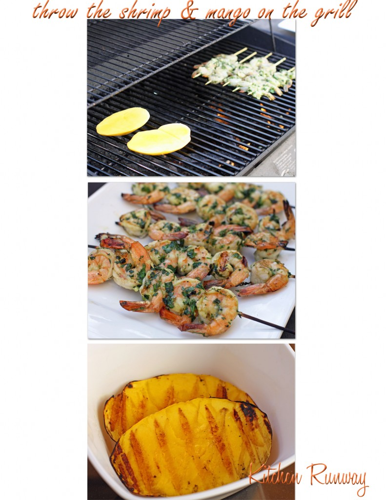 grilled shrimp and mango