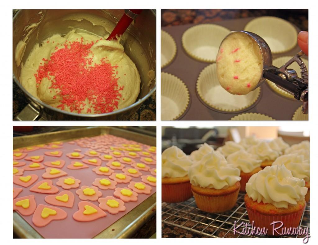 vanilla funfetti cupcake collage