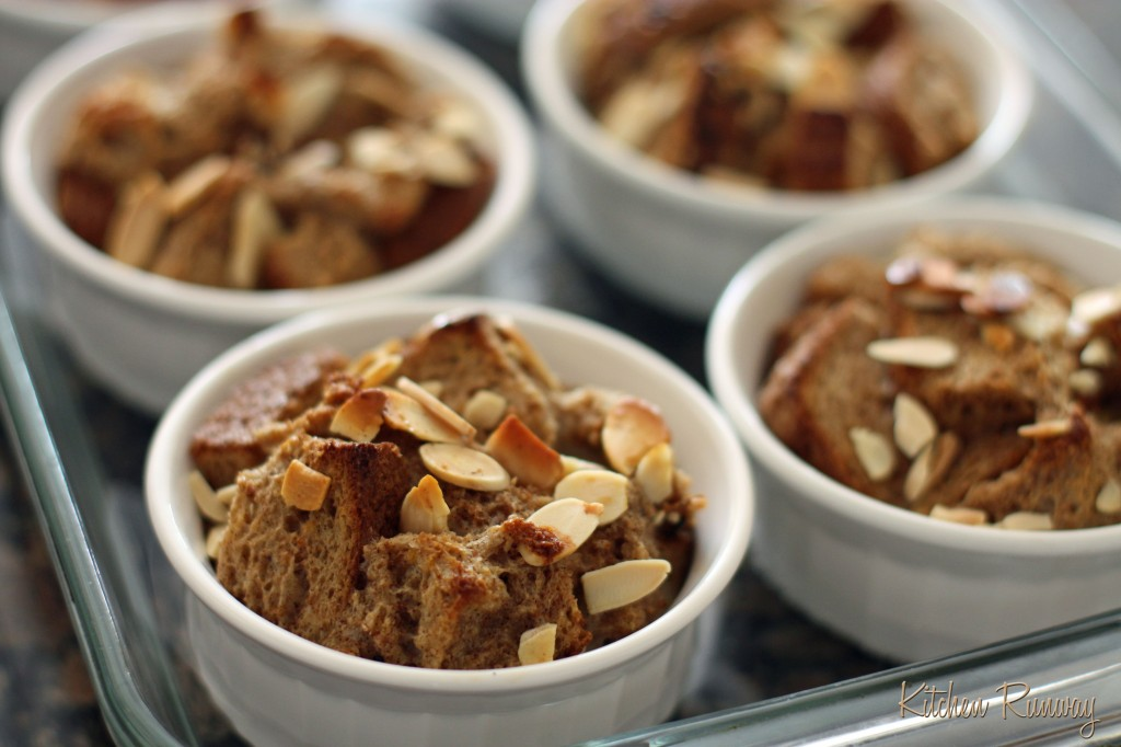 chai latte bread pudding fresh from the oven