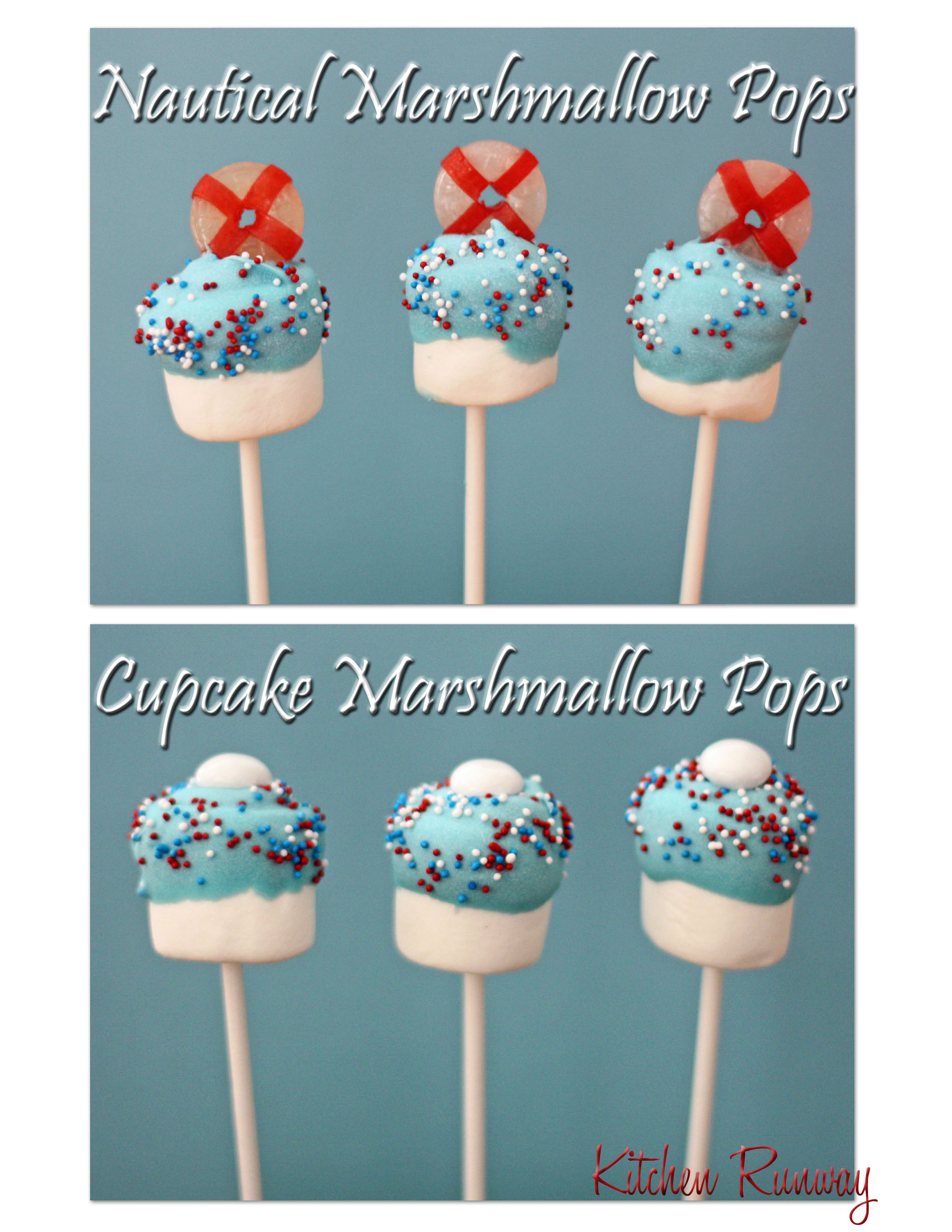 nautical marshmallow pops