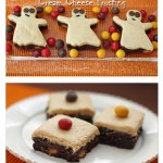 pb cream cheese frosted brownies