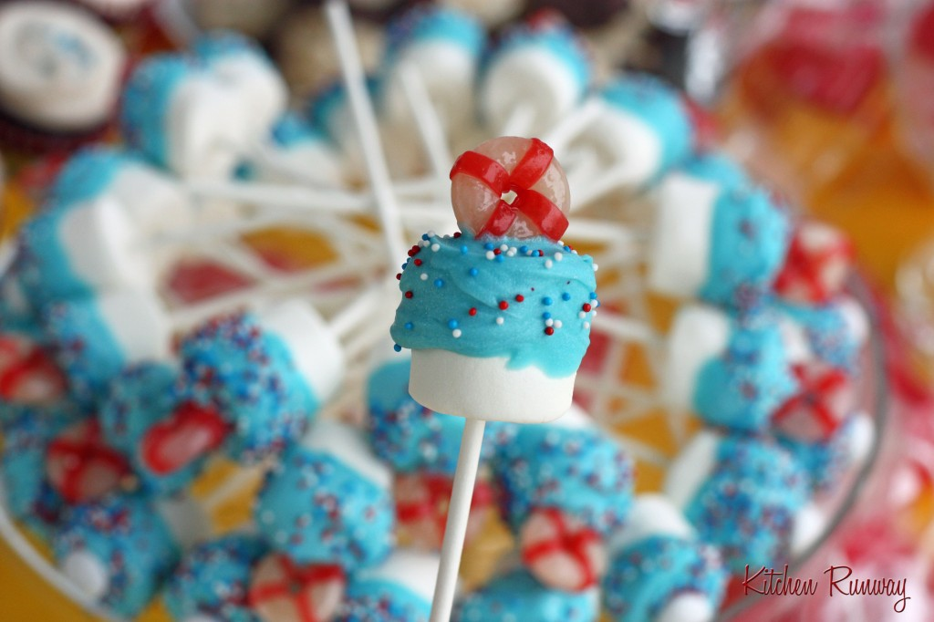 Nautical Themed Marshmallow Pops for baby shower | Kitchen Runway