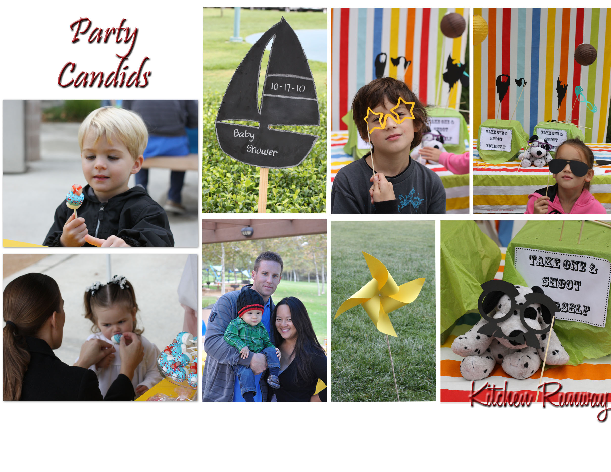 party candids collage