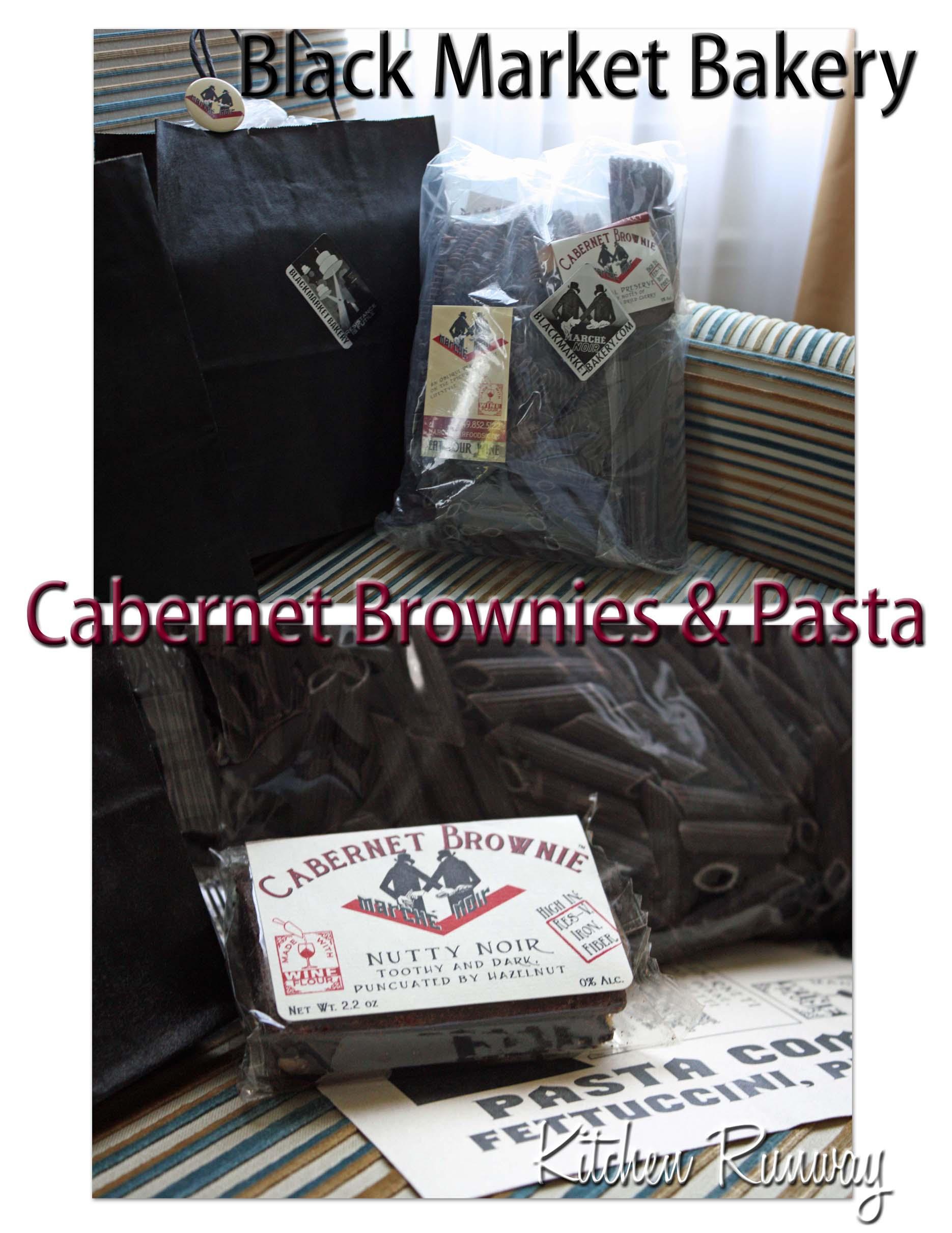 black market bakery cabernet brownie & pasta