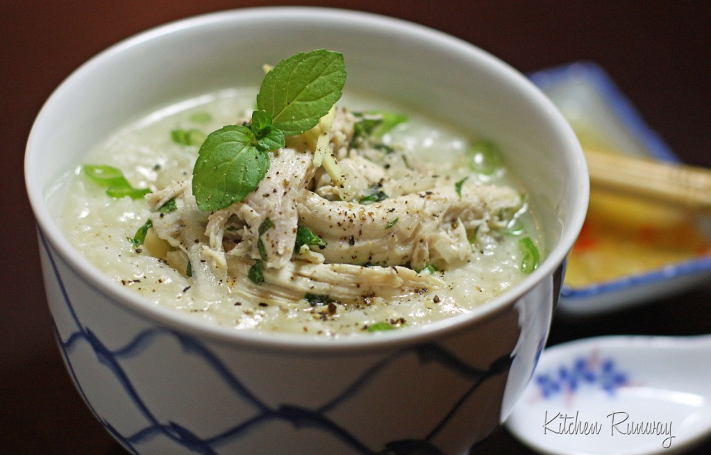 vietnamese chicken porridge chao ga