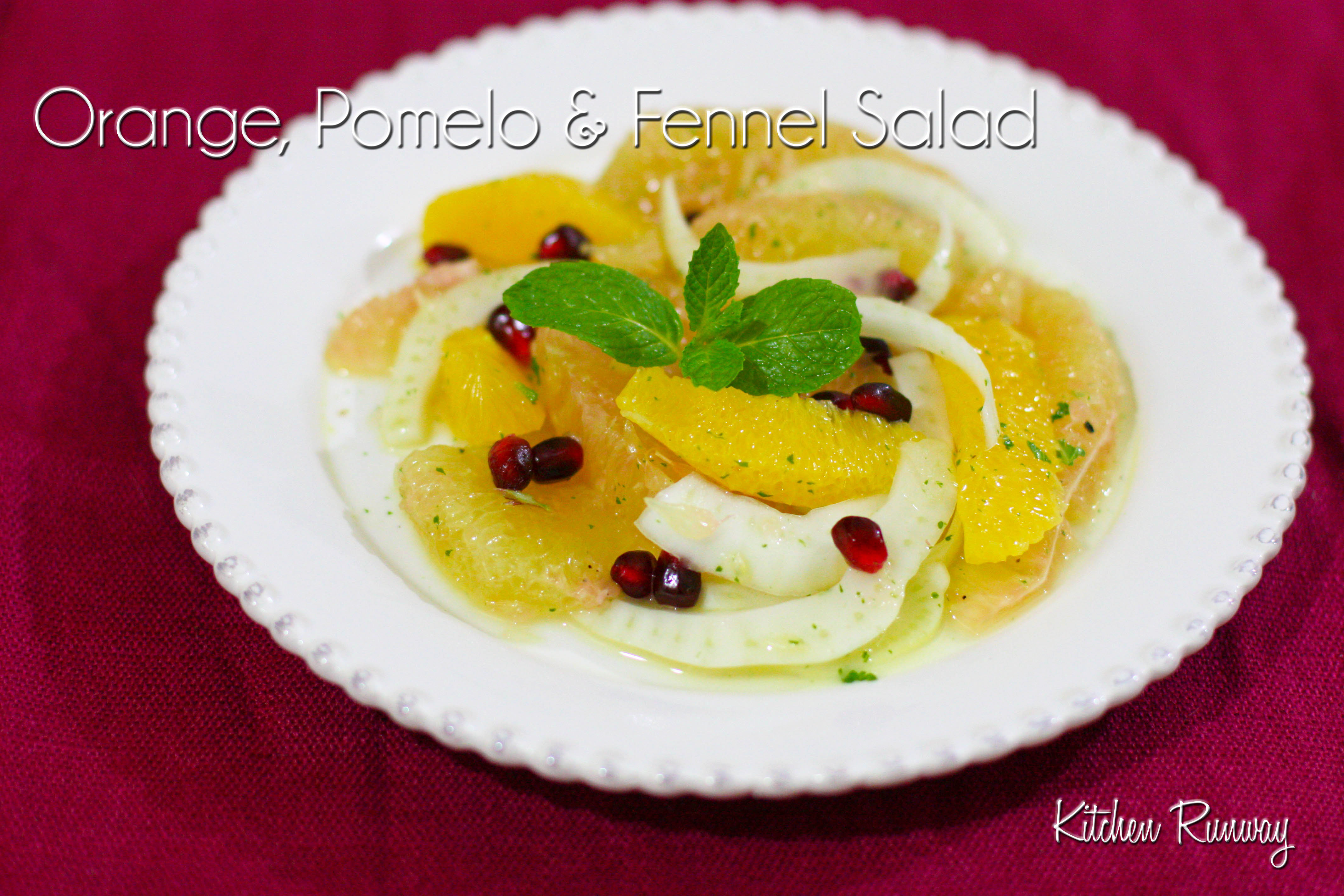 orange, pomelo and fennel salad