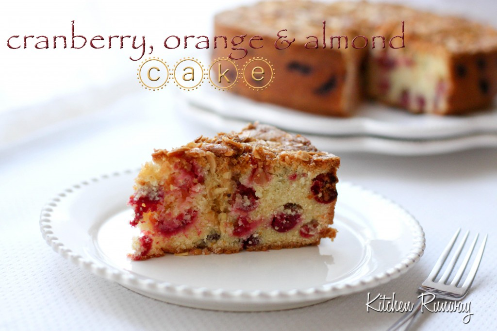 cranberry, orange & almond cake