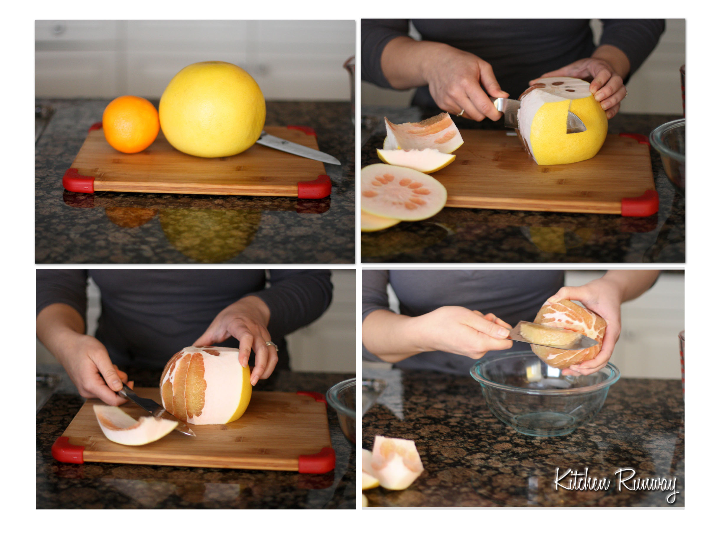sectioning citrus step by step
