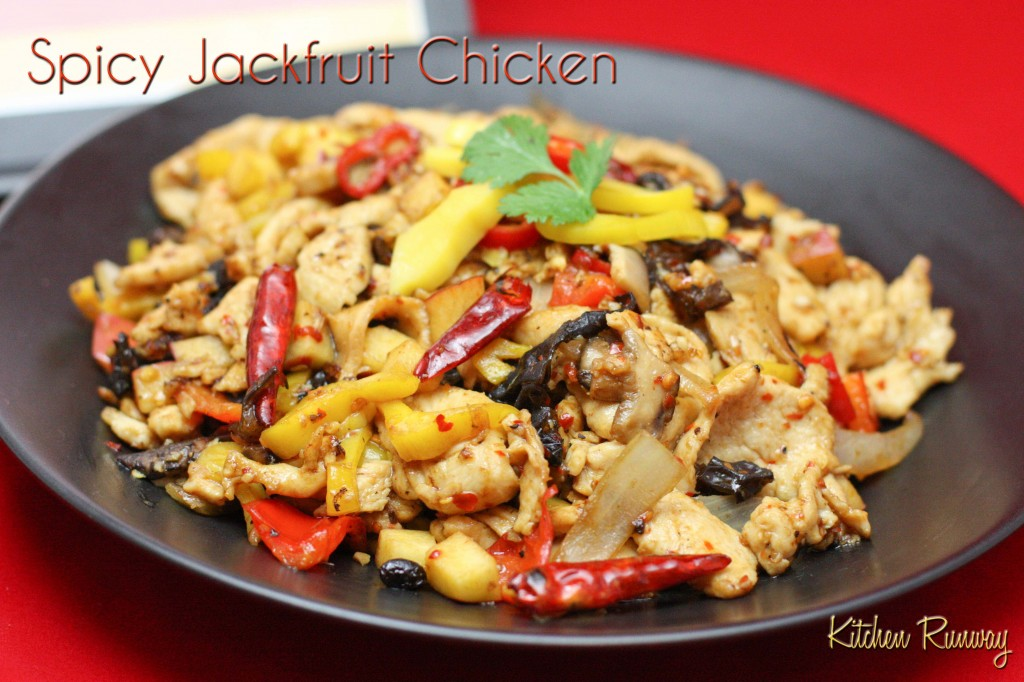 spicy jackfruit chicken