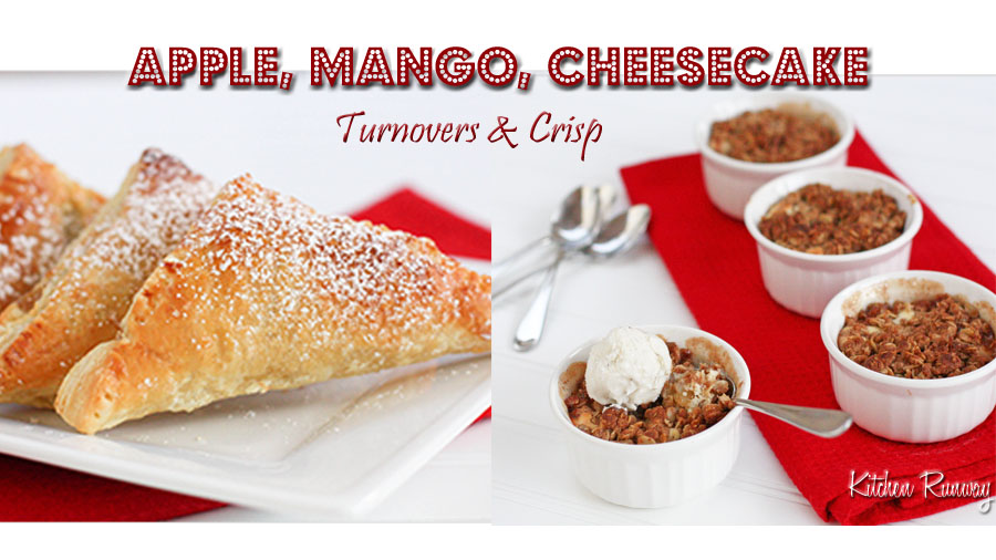 apple mango cheesecake turnovers and crisp