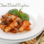 three cheese baked rigatoni