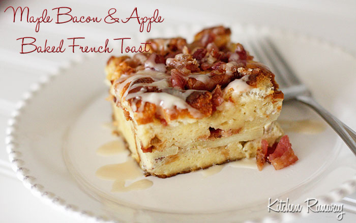 maple bacon & apple baked french toast