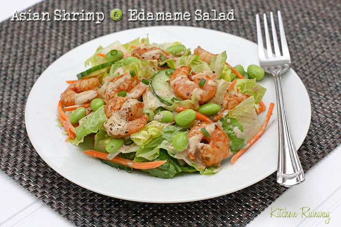 asian shrimp and edamame salad