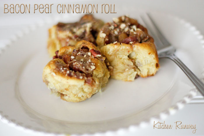 bacon pear cinnamon rolls