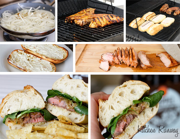 beer marinated steak sandwiches