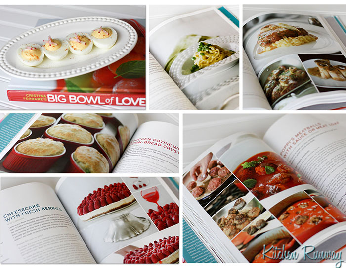 cristina ferrare's big bowl of love cookbook collage