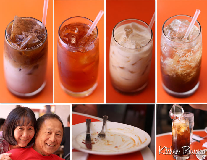 iced drinks from orange table