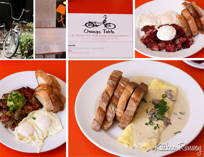 breakfast at orange table, scottsdale, arizona