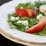 peach & arugula salad