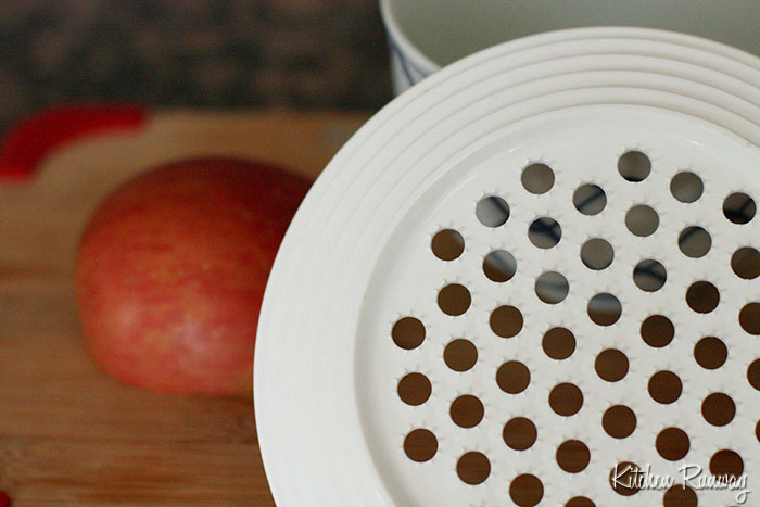 grater for apple lime vinaigrette
