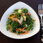 kale and quinoa salad with apple lime vinaigrette