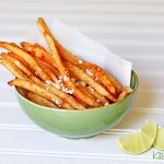 chili lime french fries with cotija cheese