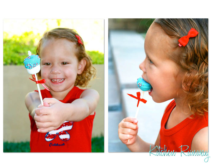 4th of july marshmallow pop