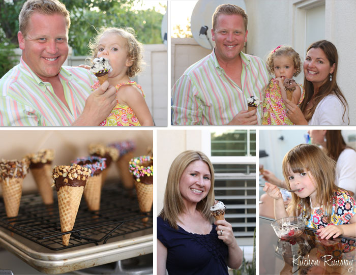 ice cream party collage