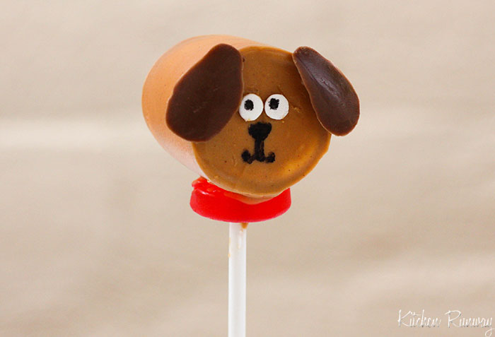 dog marshmallow pop