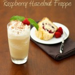 raspberry hazelnut frappe
