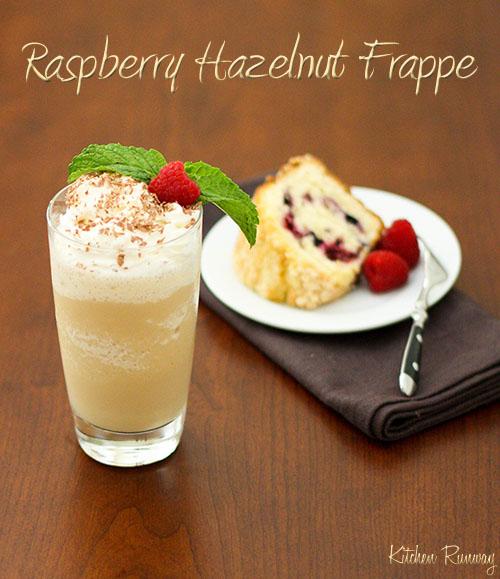 raspberry hazelnut frappe