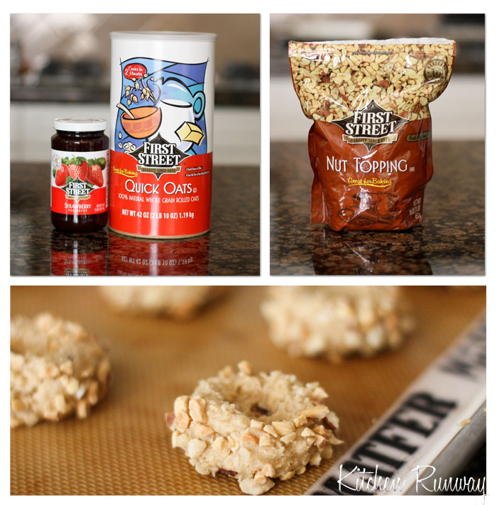 first street collage - peanut butter & jelly oatmeal cookies