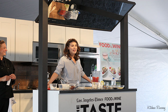 claire robinson - the taste la cooking demo