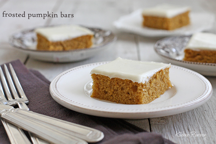 frosted pumpkin bars